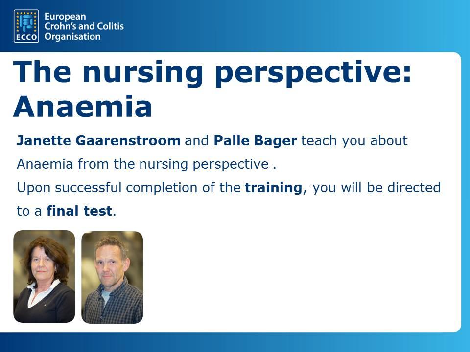 Nursing: Anaemia button